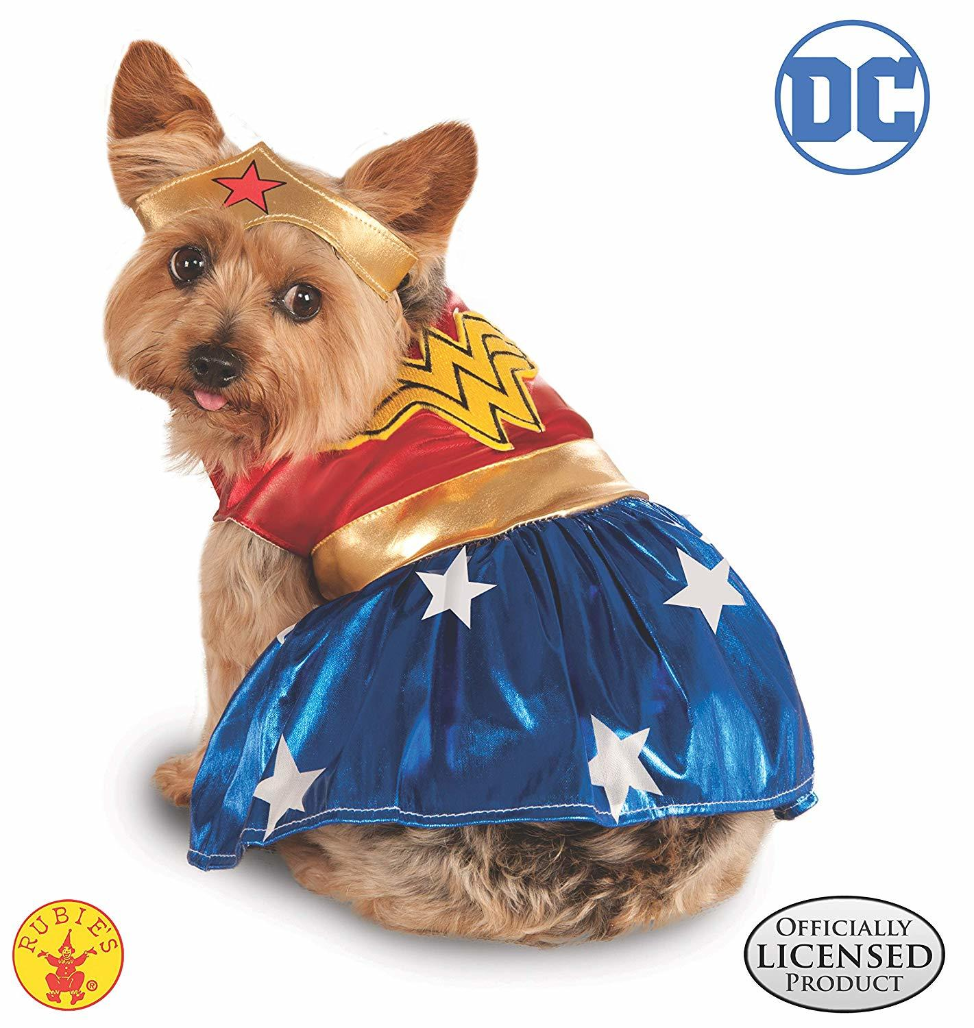 Rubies DC Comics Wonder Woman Dog Costume​​​​​