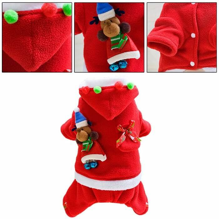 Happaiersouty Christmas Santa Style Dogs Costume