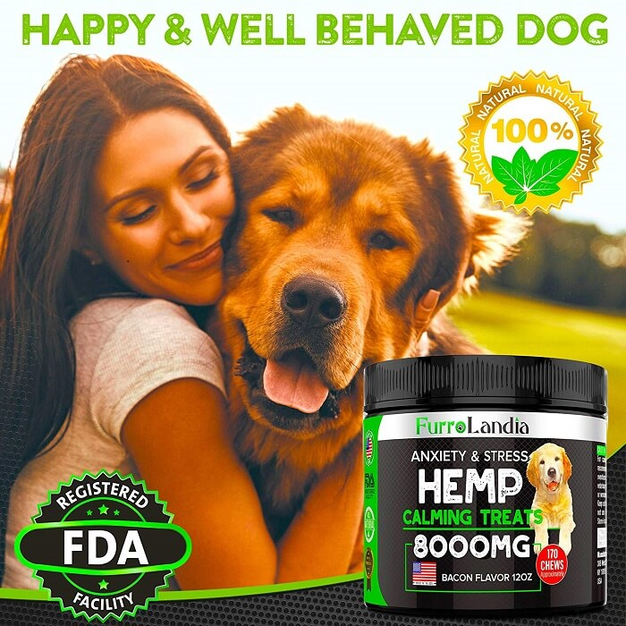 FurroLandia Hemp Treats for Dogs - The best calming treat for pets