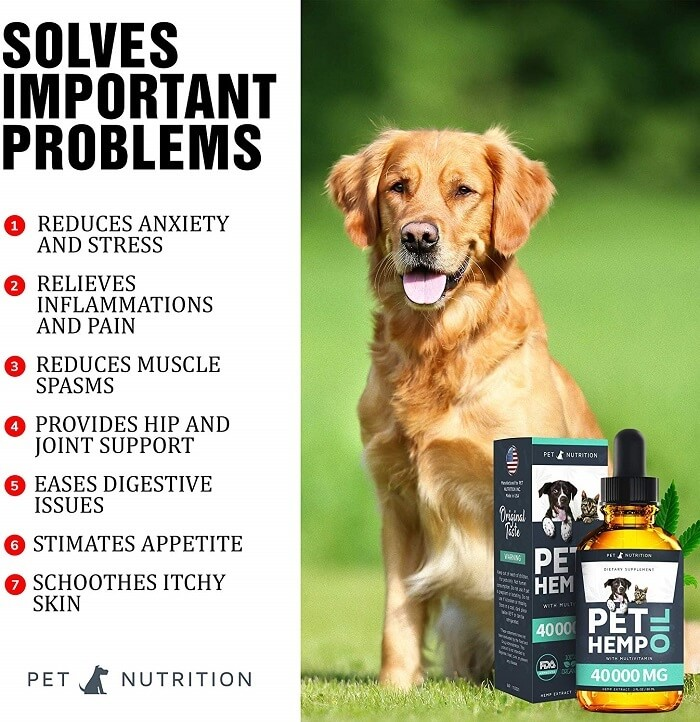 Pet Nutrition Hemp Oil Dogs - Great for anxious dogs