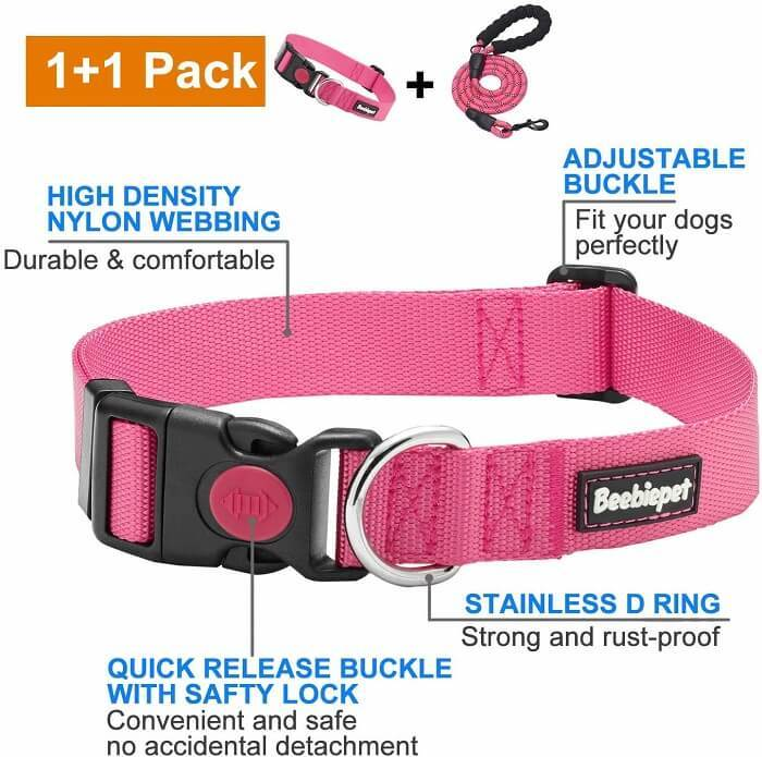 beebiepet 2 Packs Classic Dog Collar