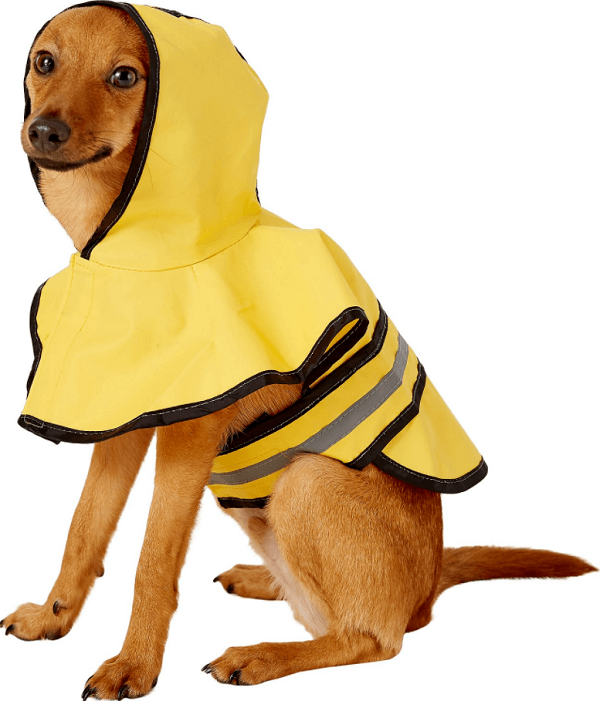 Ethical Rainy Days Slicker Pet Raincoat, Yellow