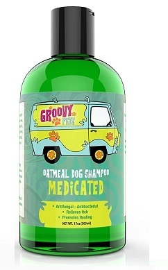 Medicated Shampoo for Dogs for Itchy Skin Infections like Hot Spots Flea & Tick Bites