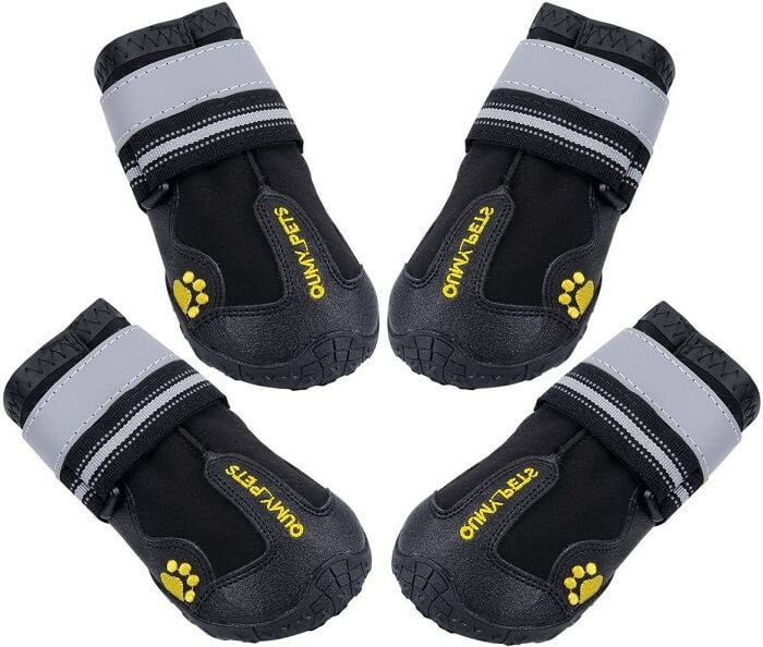 QUMY Dog Boots Waterproof Shoes for Dogs