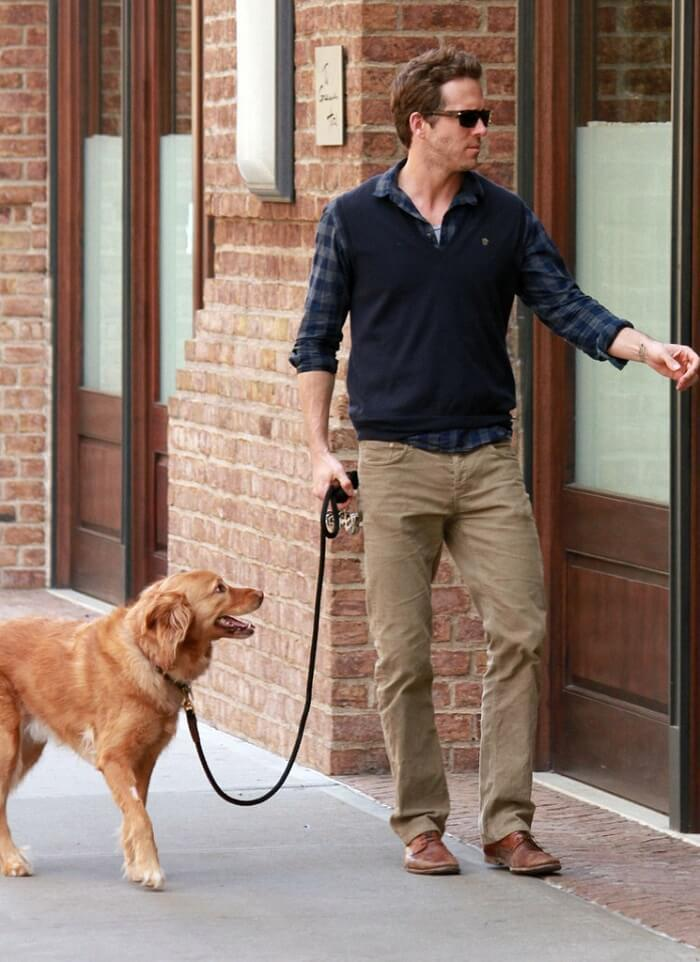 Ryan on a stroll with his dog