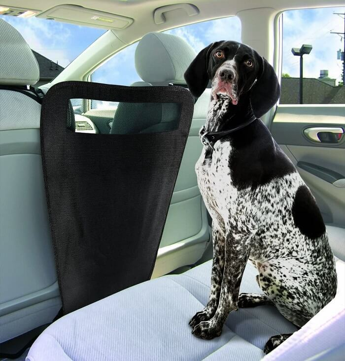 Pet Parade Auto Pet Barrier Blocks Dogs Access To Car Front Seats