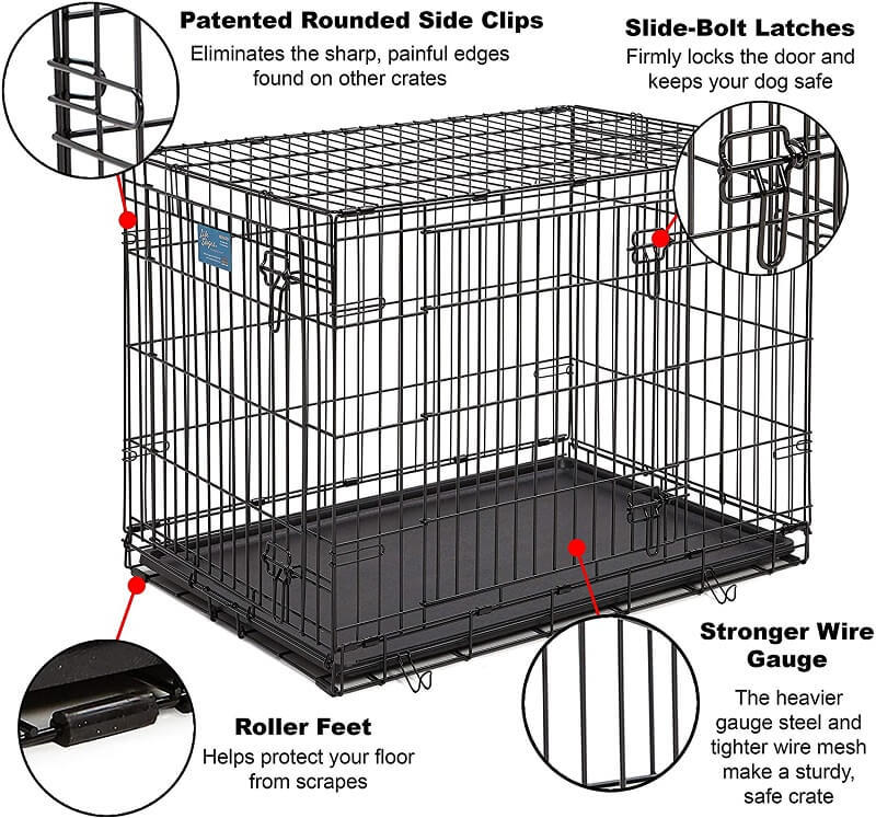 Midwest Life Stages Dog Crate Features