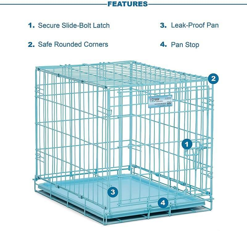 iCrate Single Door Blue Dog Crate