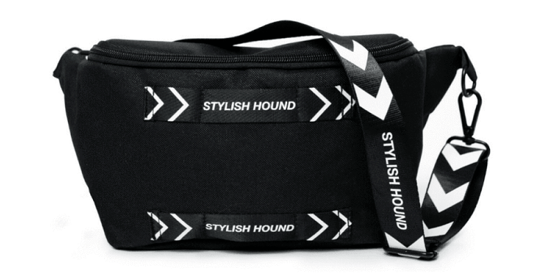 This Cross Body Bag is a great way to store scoops, poop bags, and other doggy essentials on daily walks.